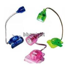 Free shipping hot sale Mini LED Clip on Adjustable Book Reading Light Bright INGT (China (Mainland))