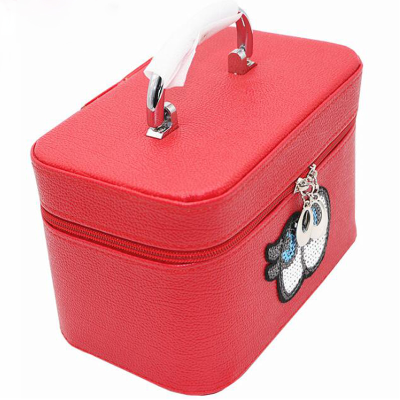 2016 New Wholesale Cosmetic Case Bag Large Capacity Box Portable Women Makeup Cosmetic Bags Storage Travel Necessary Bags S056(China (Mainland))