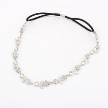 Nuova catena testa gioielli bijoux cheveux brand design di cristallo del metallo wedding accessori per capelli donne di modo dei monili dei capelli hairband(China (Mainland))
