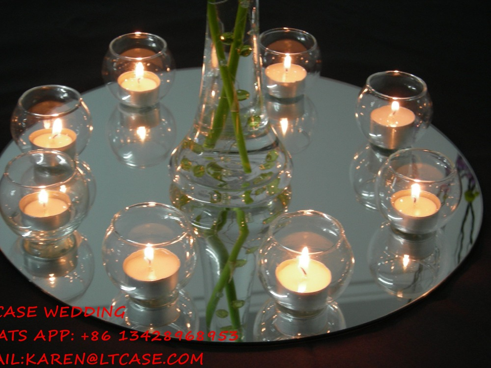 30pcs 30cm Diameter Round/square Acrylic Mirrors For Wedding Table  Centerpieces Or Wall Mirror Decor