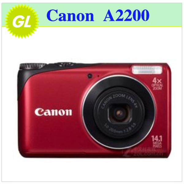 Original Canon PowerShot A2200 Digital Camera 4x Optical Zoom, 4x Digital Zoom,14MP Sensor Resolution(China (Mainland))