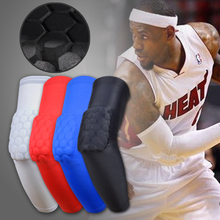 Hot Sale Honeycomb Crashproof Basketball Shooting Elbow Support Compression Sleeve Arm Brace Protector Sport Safety Elbow Pads(China (Mainland))