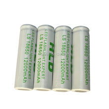 New arrival! 10pc 18650 Rechargeable Battery(not AA/AAA Battery) 3.7v 12000Mah Li-ion Tip Head Bateria for Flashlight  Headlamp