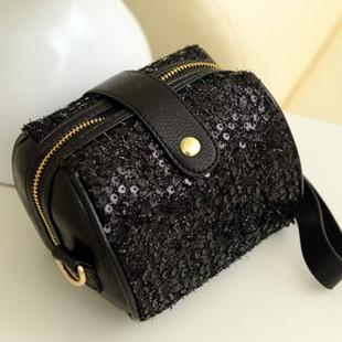 Rivet sequined handbag bag diagonal package Korean mini plush diagonal package packet camera bag retro handbags wholesale(China (Mainland))