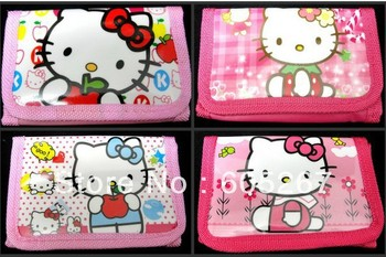 Free shipping wholesale New 60 pcs cute Hello kitty girl wallet purses gift bags Party Favor