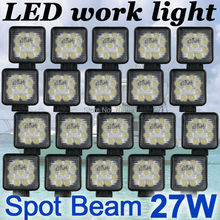 20x 27W Square  LED work Lamp Light spot Beam Truck Trailer Off Road Marine SUV(China (Mainland))