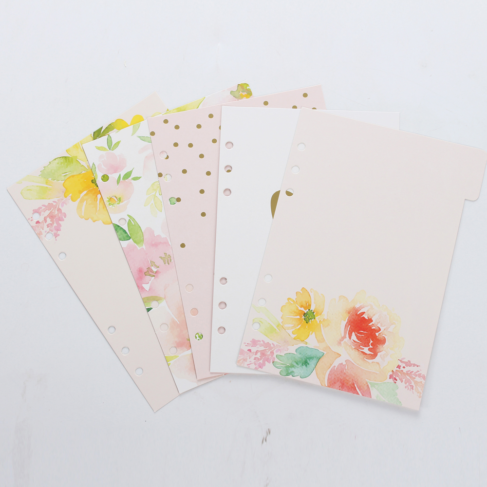 New cute spring series spiral notebook divider,original creative index paper/separator page for diary planner,A5 A6(China (Mainland))