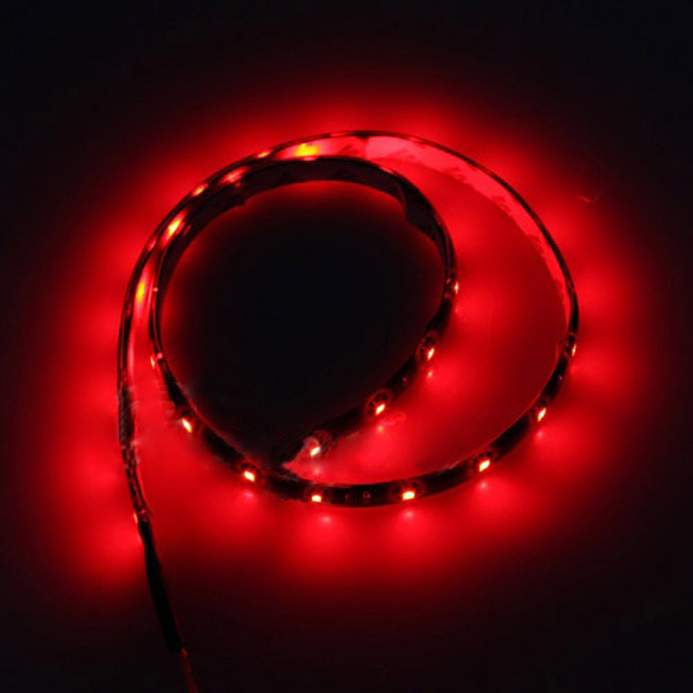 120CM 60SMD Car Strip Under Light Neon Footwell Flexible - Red Free Shipping(China (Mainland))