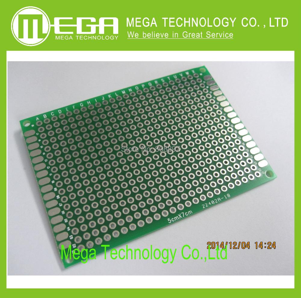 Гаджет  !!!!  10pcs 5x7cm PROTOTYPE PCB 2 layer 5*7 panel Universal Board , free shipping None Электронные компоненты и материалы