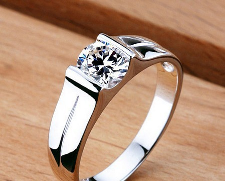 Stamp pt950 men 39 s 0 6 ct synthetic diamond men engagement for Men s 1 carat diamond wedding bands