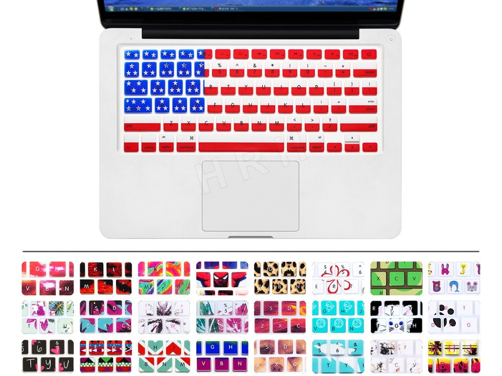 Ultra-Thin USA America FLAG pattern Silicone Keyboard Cover Protector Skin for Macbook Pro Air 13 15 17 For Mac book air 13.3(China (Mainland))
