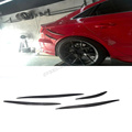 A3 S3 carbon fiber car rear sticker decoration for Audi auto rear side body carbon stickers