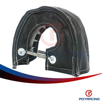 PQY STORE-T3 turbo blanket (Glass fiber) Black fit : t2 ,t25 ,t28, gt28 , gt30 , gt35, and most t3 turbine housing turbo charger