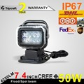 7 Remote Control Spot light 50W LED CREE Work light 10 30V Waterproof Offroad Driving Search