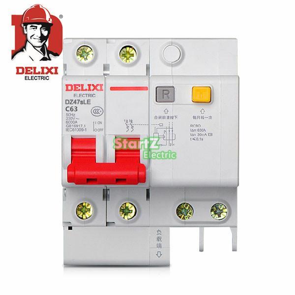 63A 2P RCBO RCD Circuit Breaker  DE47LE  DELXI<br><br>Aliexpress