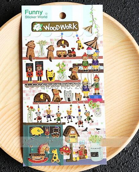 New Wood Work series Daily Deco Sticker set/ Multifunction/DIY Sticker/Sign post<br><br>Aliexpress