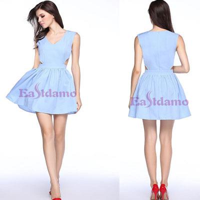 Женское платье Summer Dress 2015 eastdamo Vestidos V ED212002 женское платье dress new brand 2015 v vestidos print summer dress