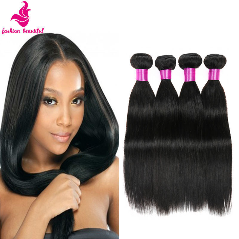 Indian Virgin Hair 7A Unprocessed Virgin Human Hair Raw Indian Hair 4 bundles Indian Straight Virgin Hair 100G/PC Natural Color<br><br>Aliexpress