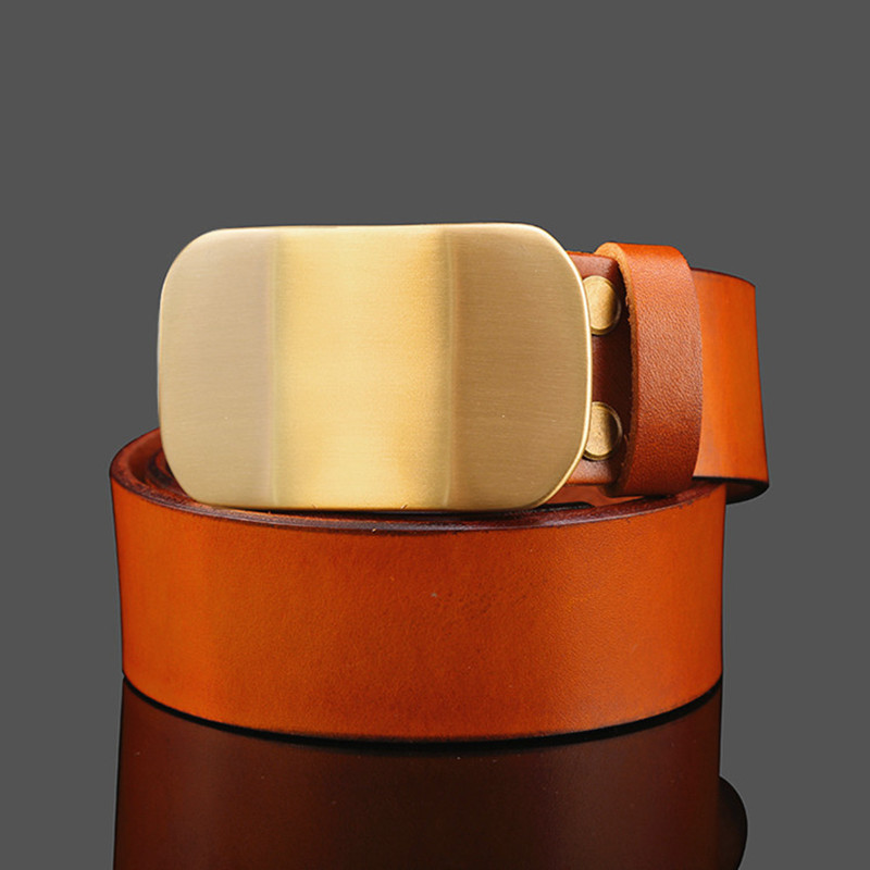 100% Cowhide Leather Waist Belt High Quality Male Belt Wide Men's Belt Luxury Brand Vintage Jeans Strap(China (Mainland))
