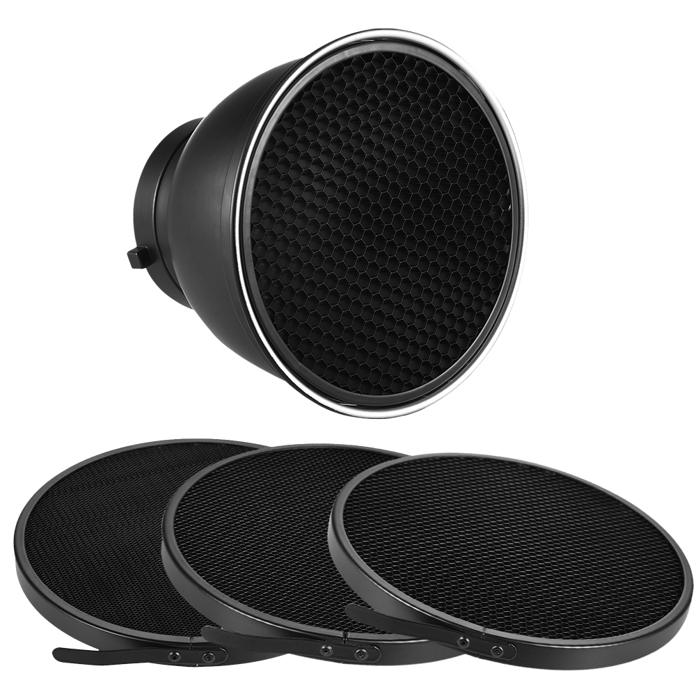 """7"""" Standard Reflector Diffuser Lamp Shade Dish with 10/20/30/60 degree Honeycomb Grid for Bowens Mount Studio Flash Speedlite(China (Mainland))"""