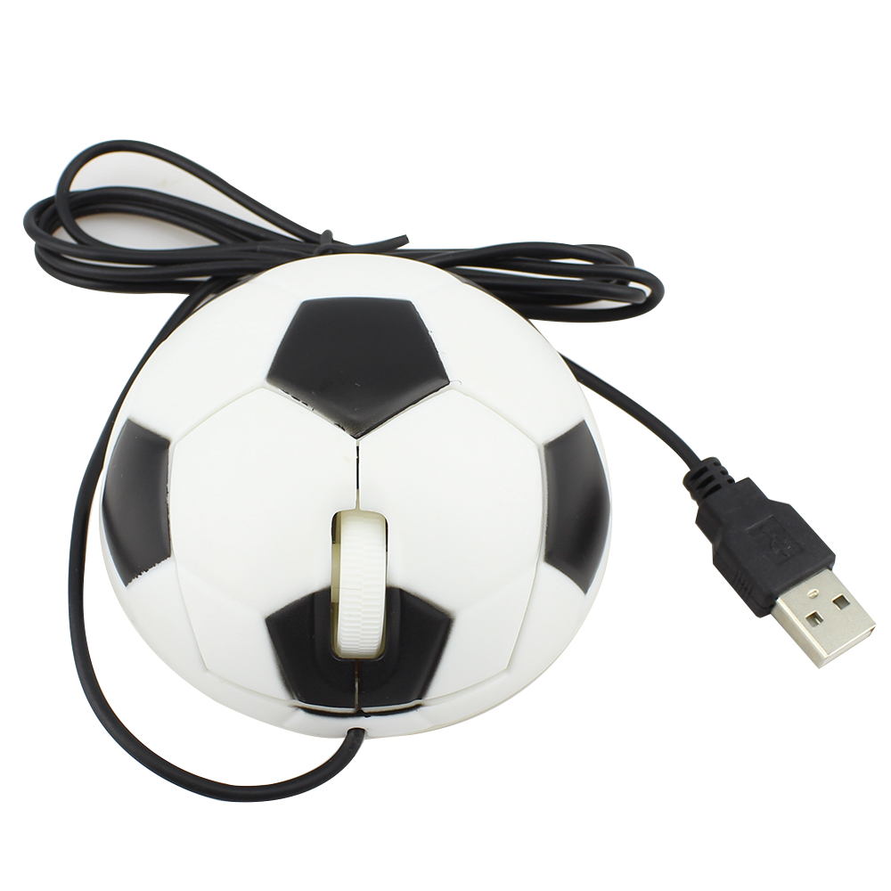 New 2016 High Quality 1000DPI Mice Optical Mause 3D USB 2.0 Wired Mouse For PC Computer Laptop Football Soccer Design(China (Mainland))