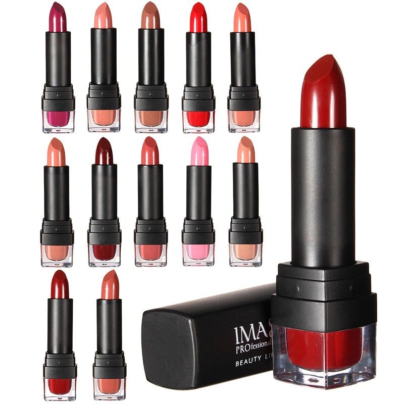 IMAgic 1pcs 12Color Lipstick Charming Waterproof Maquiagem Long Lasting Matte Nature Makeup Beauty Lips Cosmetic Tools(China (Mainland))