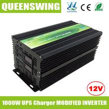 Queenswing 1000 Вт инвертор высокой частоты с цифровым дисплеем и UPS 15A зарядное устройство ( QW-M1000UPS )