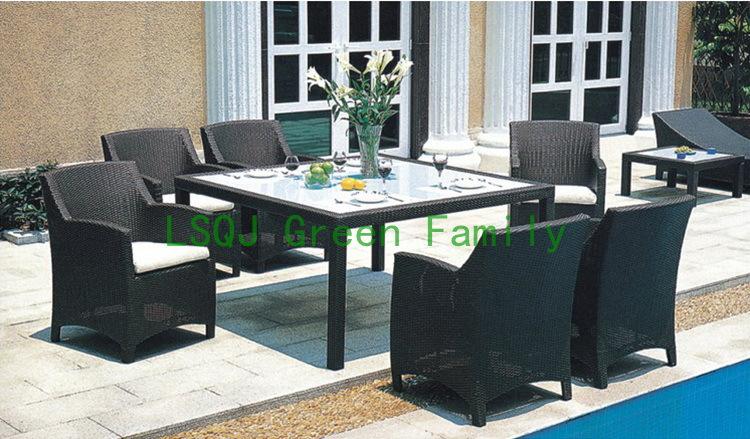 M1211rattan muebles juego de comedor mesa de comedor y for Muebles de comedor precios
