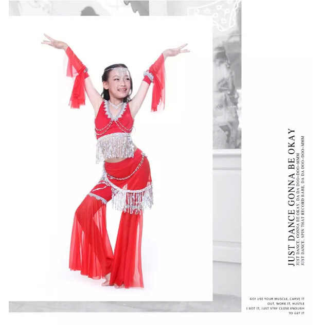 Belly dance costume set for girl  beauty elegant belly dancing for children girl have 6 colors can be chooseОдежда и ак�е��уары<br><br><br>Aliexpress