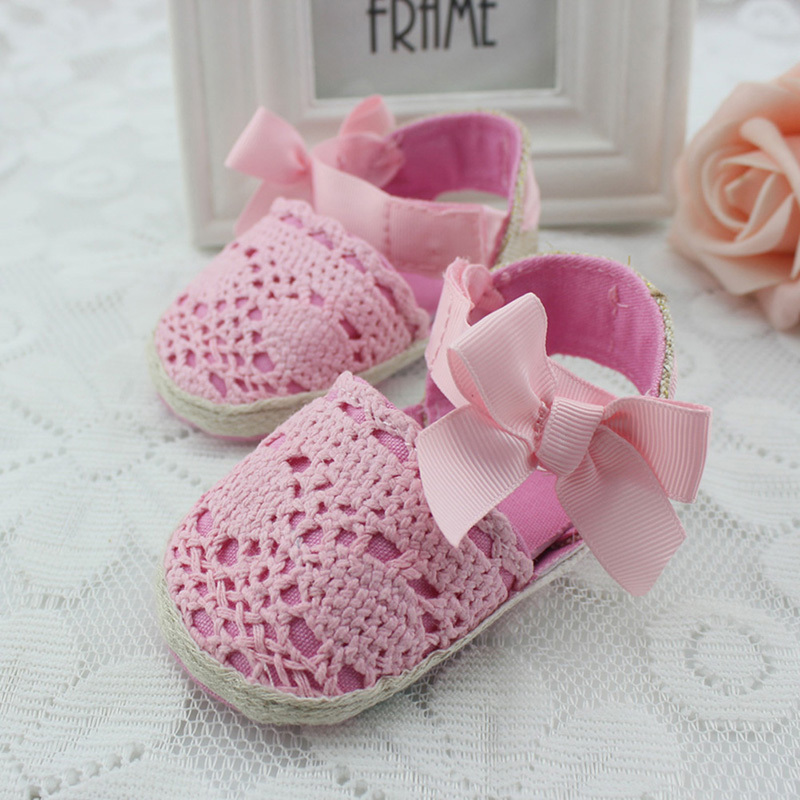 Lovely Infant Toddler Princess First Walkers Newborn Baby Girls Kid Prewalker Soft Soled Shoe Bow Dress Knitting Shoes Footwear - Drop& Clothes store
