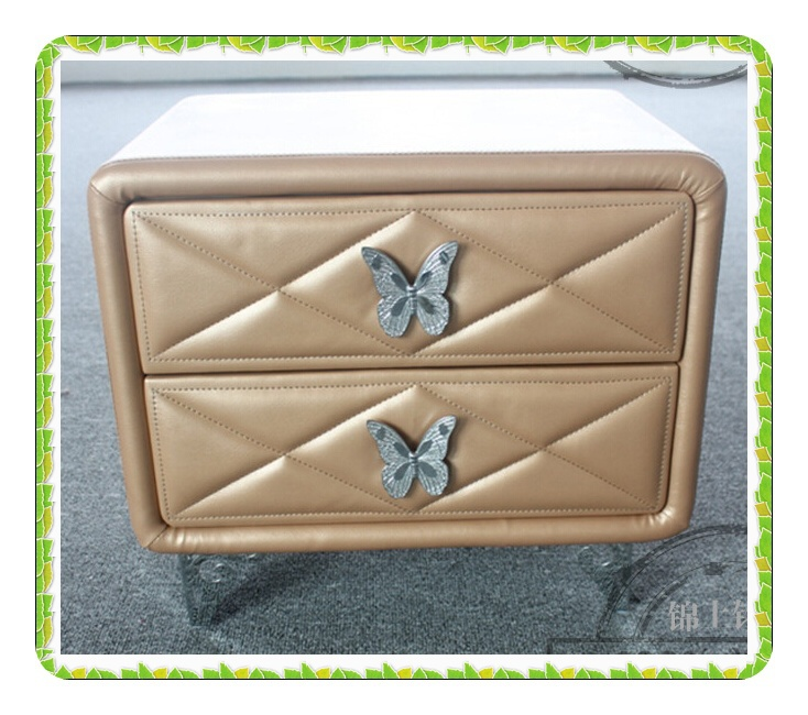 Здесь продается  Shiny Imitate leather beside tables with two drawers   hot selling  Мебель