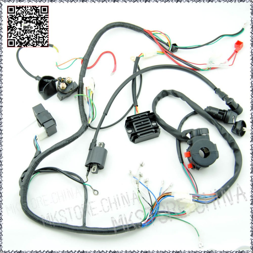 250cc QUAD ELECTRICS 150 200cc Zongshen Lifan Ducar Razor CDI COIL WIRE HARNESS Free shipping wiring diagram for chinese 110 atv the wiring diagram Basic 12 Volt Wiring Diagrams at downloadfilm.co