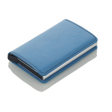 Men Credit Card Holders Business ID Card Case Fashion Automatic RFID Card Holder Aluminium Bank Card Wallets(China)
