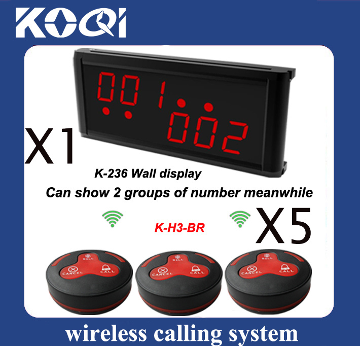 1 set LED Display Wireless Transmission System w 1 pc watch receiver + 5pcs 3-press Table Button H3-BR(China (Mainland))