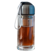 300ML Double Thicken Wall Glass Water Bottle Portable Drinking Drinkware Leisure Sports Coffee Tea Milk Cup With Hidden Cubicles(China (Mainland))