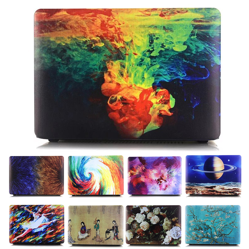 Marble Printing Texture Hard Case For apple Macbook Air 11 12 13 Pro 12 13 15 Retina Bag Matte Oil Planet 3D Flower Cover Shell(China (Mainland))
