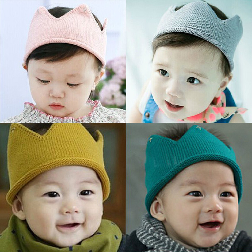 newborn photography props new style 5 colors crown style baby hat handmade crochet fotografia props cap only for newborn(China (Mainland))