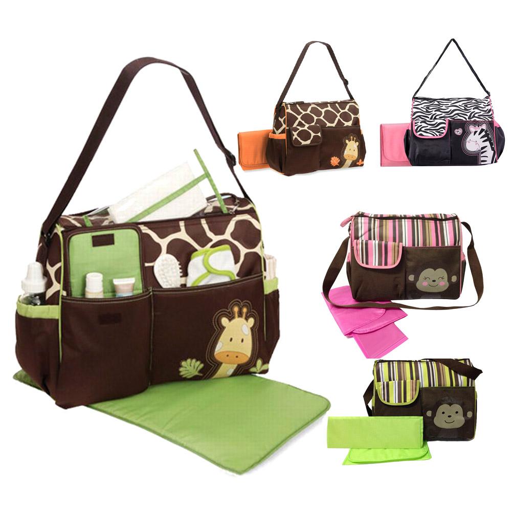 Multifunctional Baby Diaper Nappy Changing Bag Mummy Handbag Giraffe Pattern(China (Mainland))
