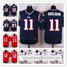 Good 100% Stitiched Edelman Jersey,Brady,Gronkowski,Blue Red White For Men(China (Mainland))