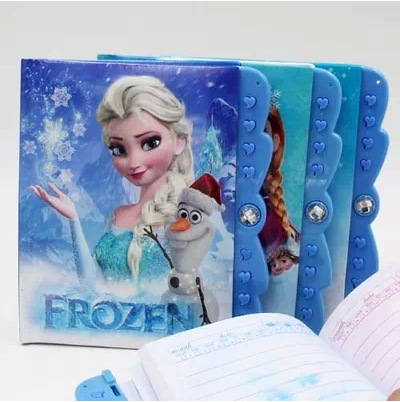Гаджет  2014 New Frozen Elsa Anna Olaf Stationery Notepad Hardcover Notebook For Kids Learning Models Password Diary ST0005 None Офисные и Школьные принадлежности