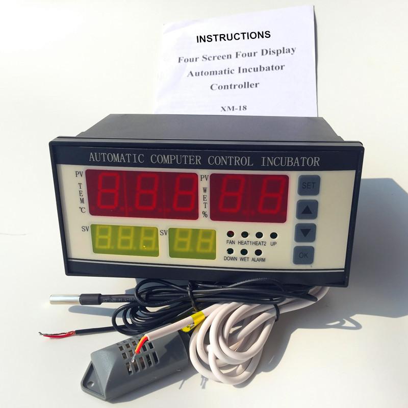 Бесплатная доставка 1 компл. XM-18 ( обновление версии ) мини-инкубатор автоматический регулятор с температуры и влажности