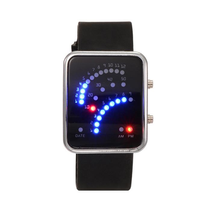 Relógios de Pulso 2016 Silicone Led Retângulo Homens Mulheres Relojes Deportivos Parágrafo Hombres