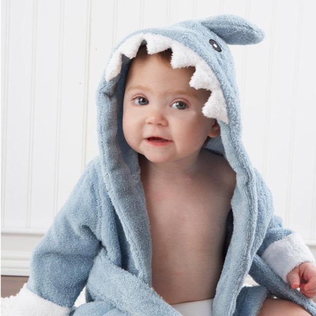 Халат дети для кожи с капюшоном детские халаты животных моделирование новорожденный ...