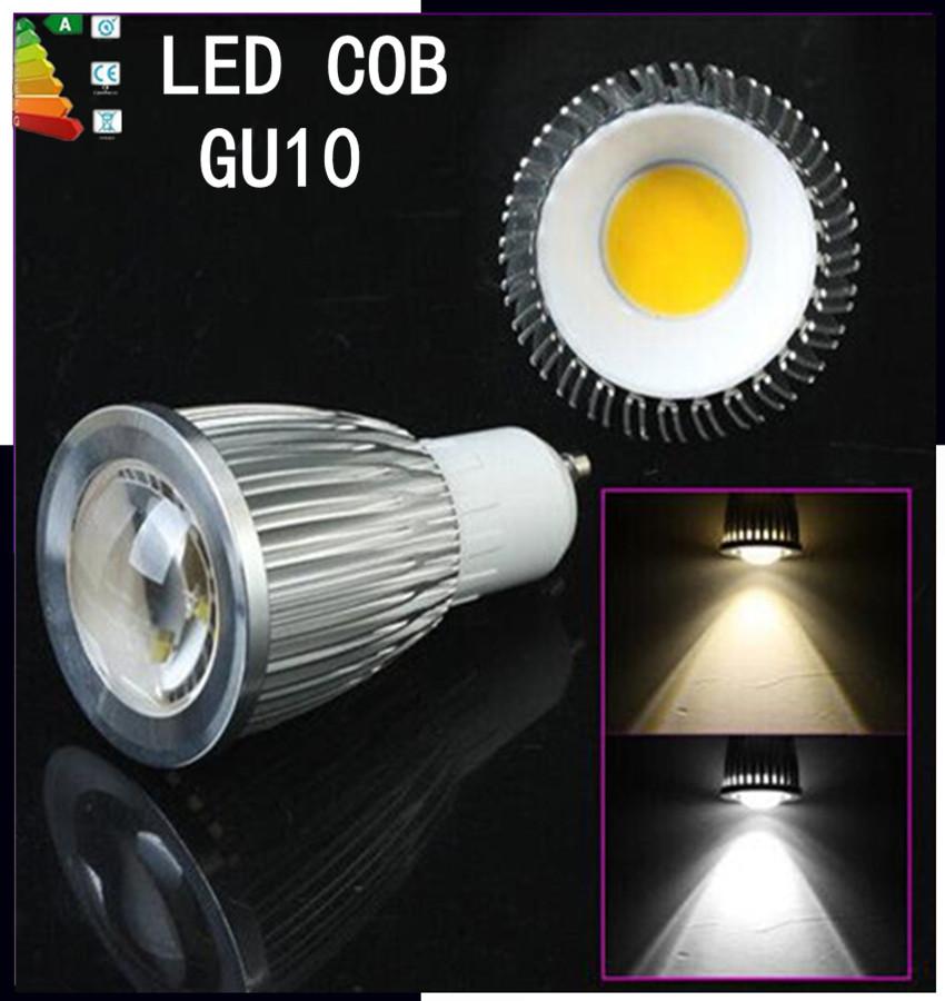1pcs Free shipping Dimmable GU10 / E27 / GU5.3 / E14 / B22 / MR16 / 9W 12W 15w COB AC110v-2220V High Power Led Light Bulbs(China (Mainland))