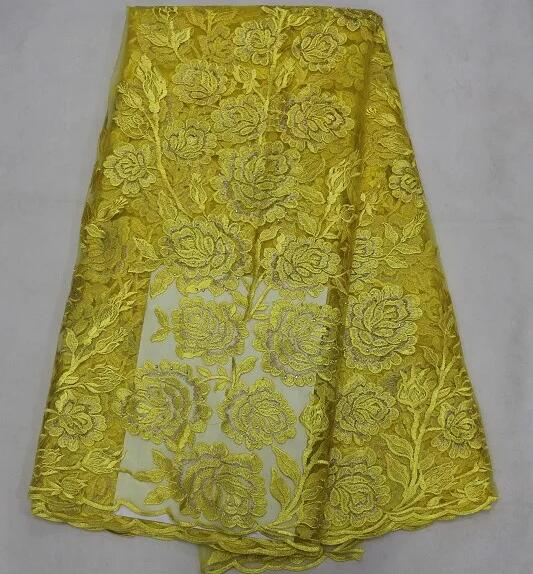 Free Shipping by DHL! African guipure lace fabric.golden yellow High quality african cord lace fabric for woman dress B05-50708(China (Mainland))