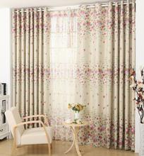 Small calico printing Korean rural custom curtain cloth bedroom living room full light shading curtain Product Customized gauze