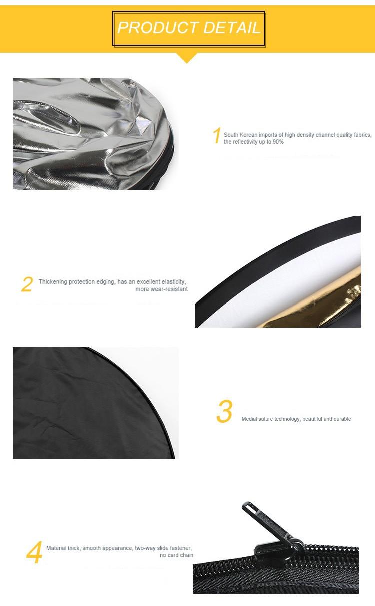 ถูก 80เซนติเมตร5in1มือถือพับแสงสะท้อนแผ่นสะท้อนแสงที่มีกระเป๋าสำหรับการถ่ายภาพสตูดิโอ