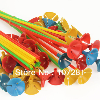 Free shipping 200 set/lots wholesales balloon sticks and cups , balloon brace , 28cm length