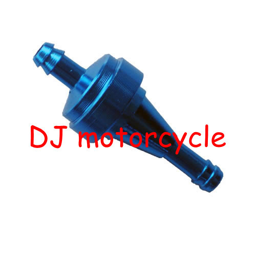 Wholesale motorcycle CNC fuel filter High performance aluminum oil filter for the mini motocross ATV engine parts 1 lot=10 pcs(China (Mainland))