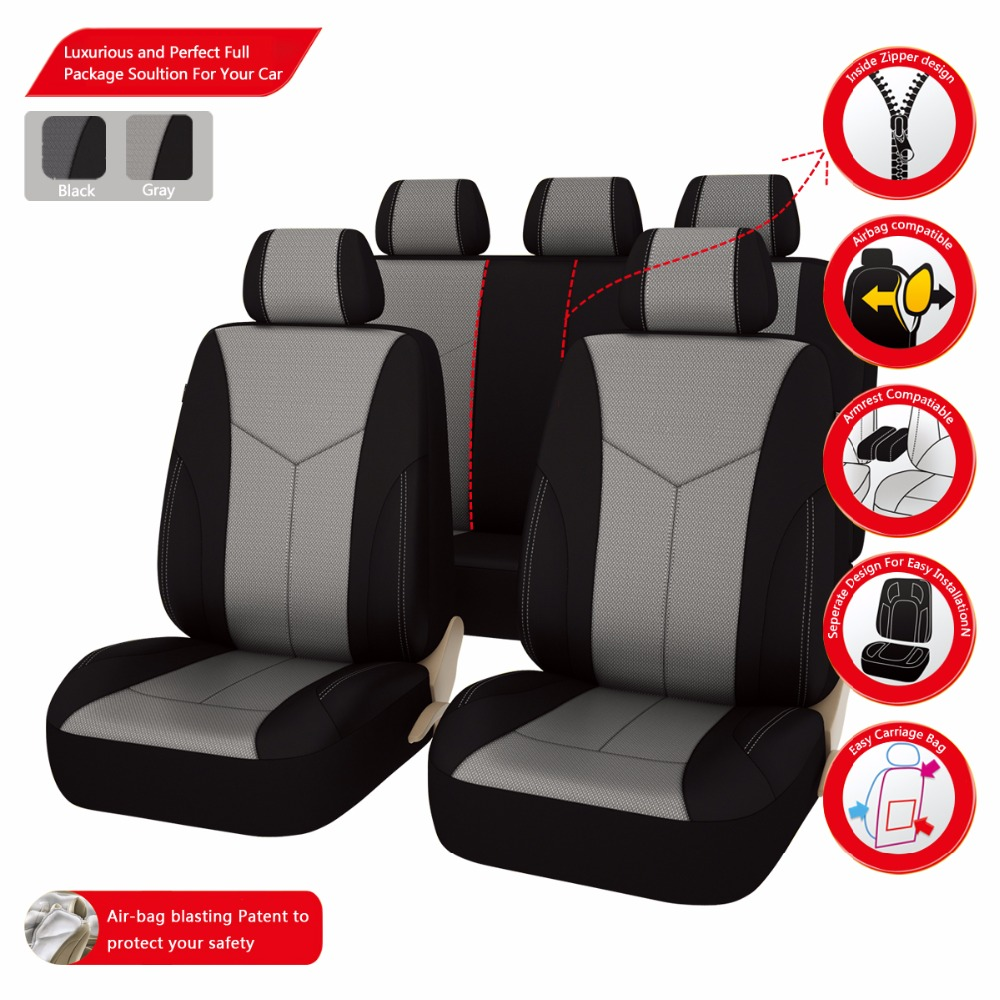 New Luxury Eye-bird MESH Cloth Auto Universal Car Seat Covers Automotive Seat Covers for Lada Kalina Granta Priora Renault Logan(China (Mainland))